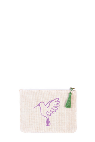 Purple & Green Sonia Small Makeup Pouch