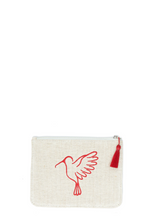 Red Sonia Small Makeup Pouch