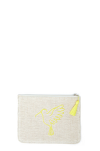 Yellow Sonia Small Makeup Pouch