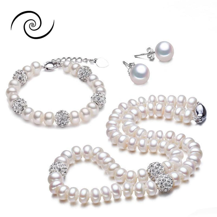Beautiful Natural Freshwater Pearl Set