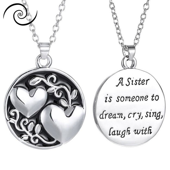 Engraved Necklace Sisters Love