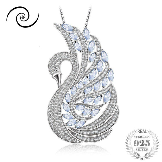 Light Blue Spinel Swan