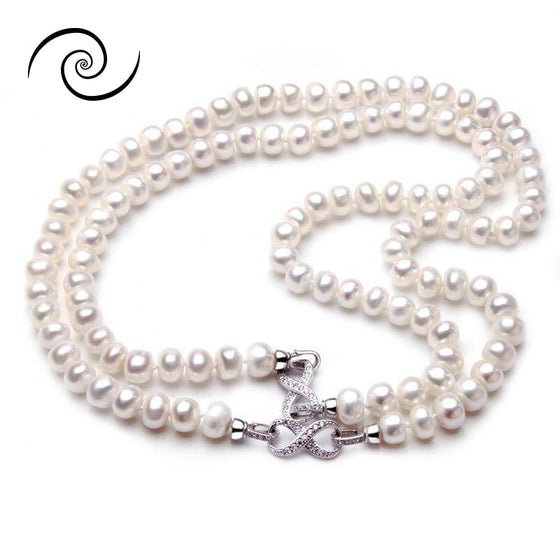 Natural Freshwater Pearl Infinity Necklace
