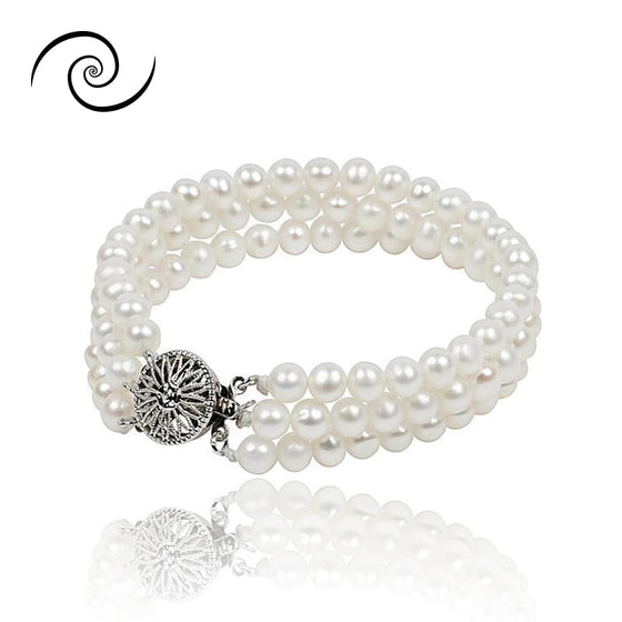 Natural White Freshwater Pearl Bracelets