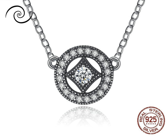 Vintage Geometric Diamond Neckless