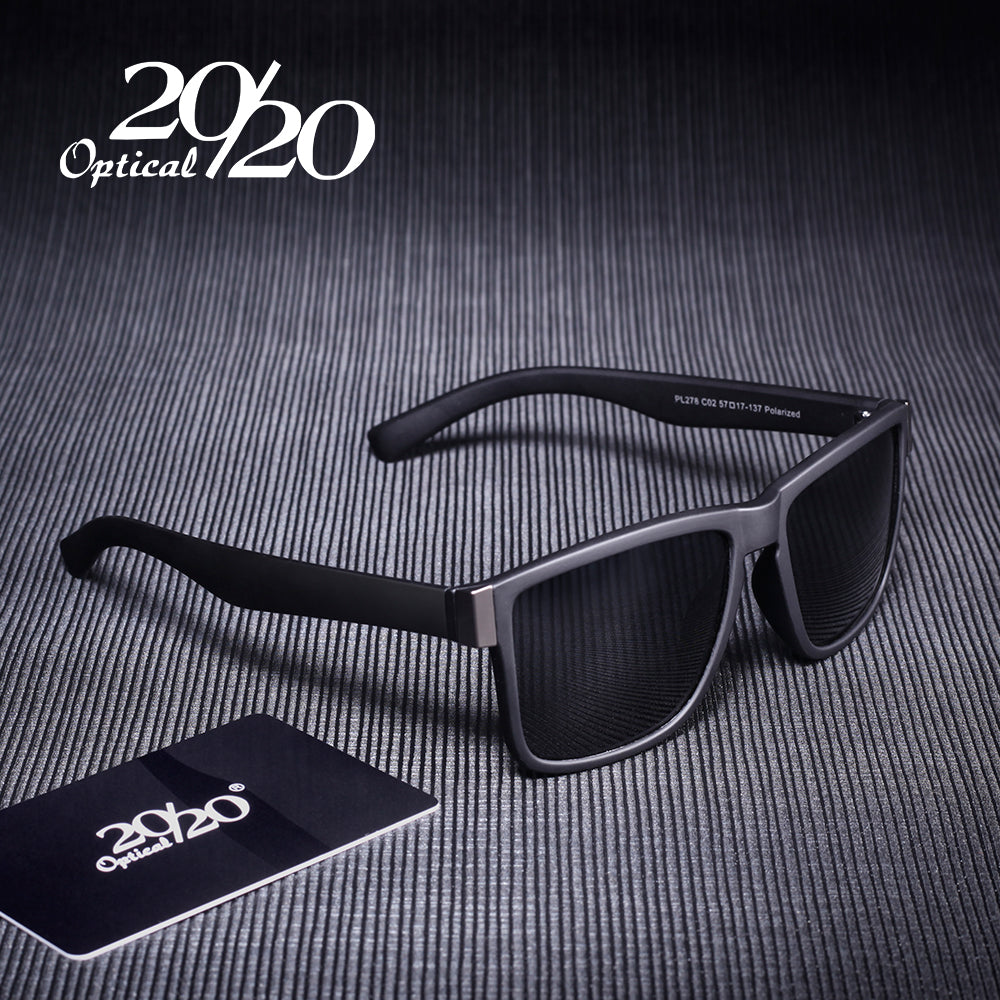 Classic Mens Polarized Sunglasses with Fashion colored Frames