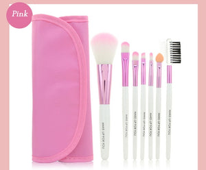 7 Piece Professional Makeup Brush Kit
