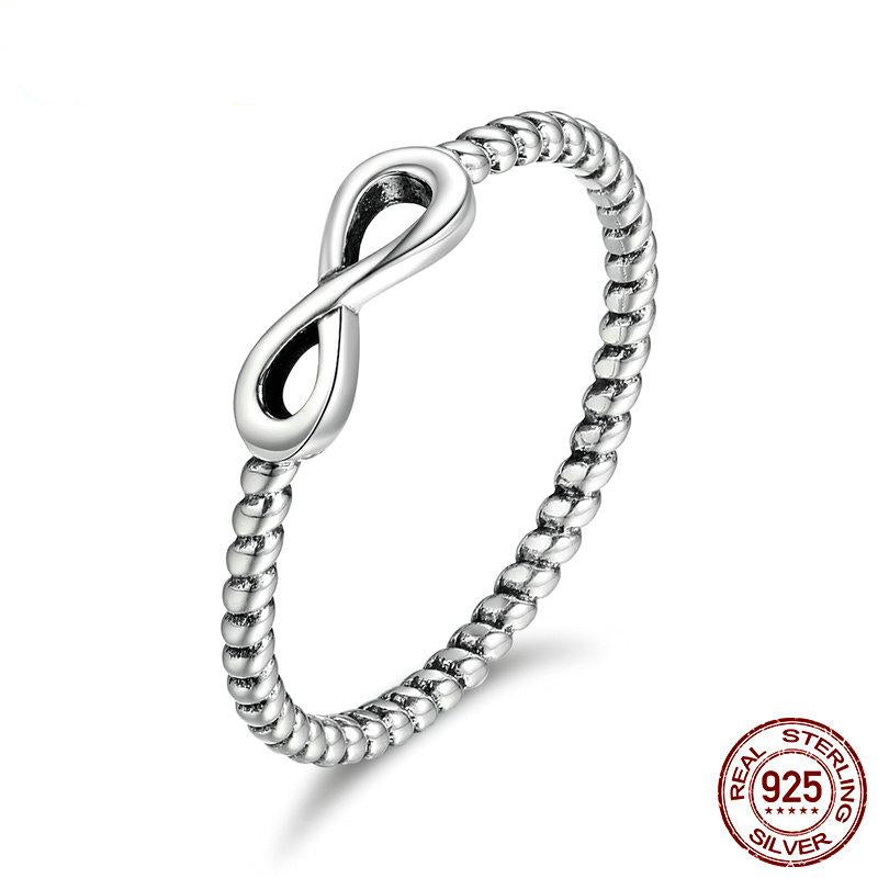 925 Sterling Silver thin Infinity Ring