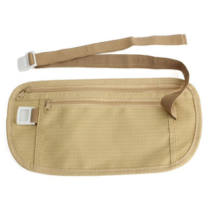 Money Belt for Traveling - Fits around your waist and can be worn under clothing for security