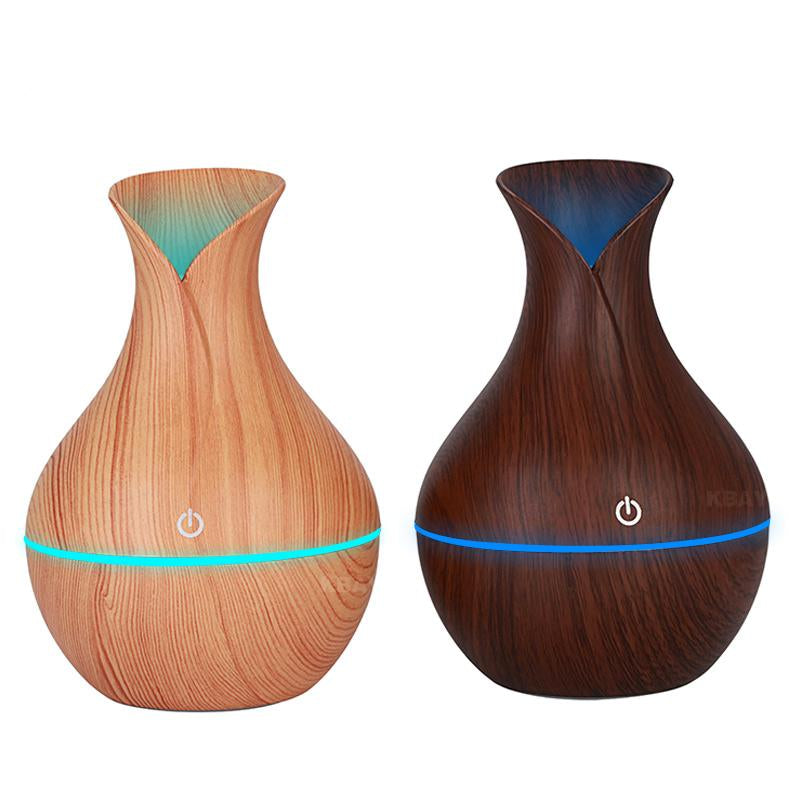 Wood Grain Oil Diffuser with LED lights