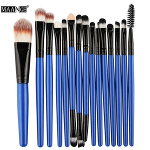 15 Piece Professional Makeup Brush Kit - Brushes only