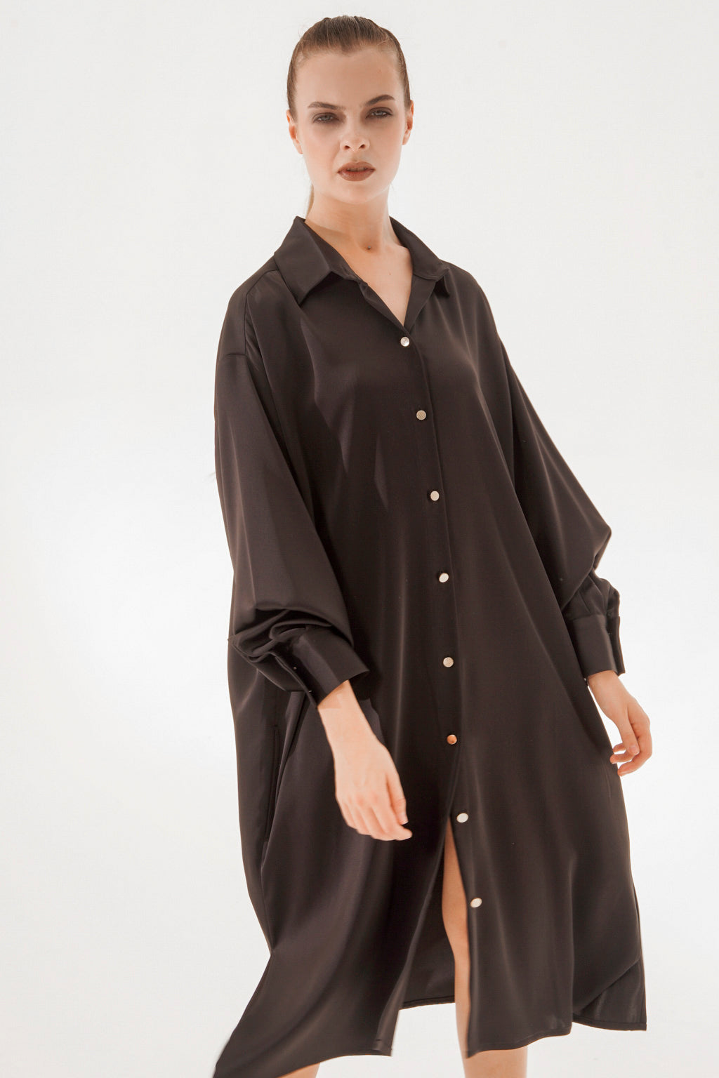 K-SHIRT MIDI BASIC BLACK