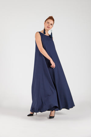 Sleveless Gown Dark Blue