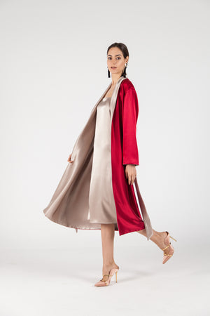 Double-Sided Satin Robe&Dress SET