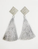 Silver-Tone Tassel Earrings