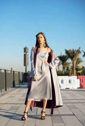 Double-Sided Satin Robe SET