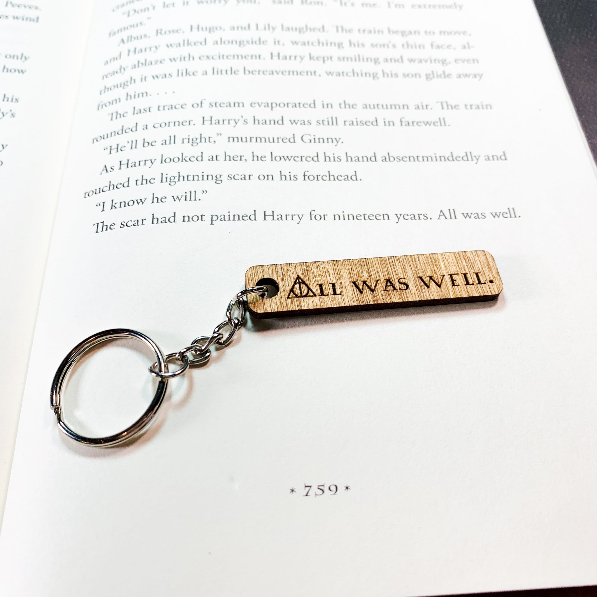 All Was Well Keychain