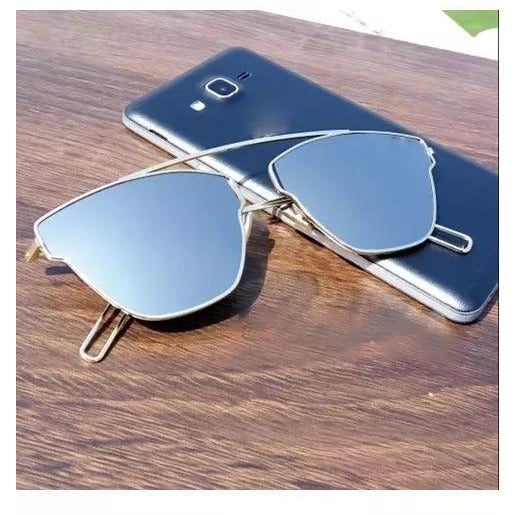 VK Style Silver Square Frame Sunglasses For Men