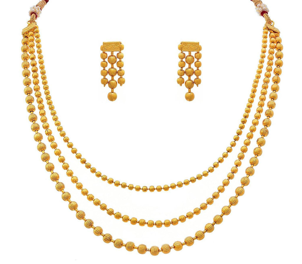 JFL - Jewellery for Less Gold-Plated Necklace Set for Women