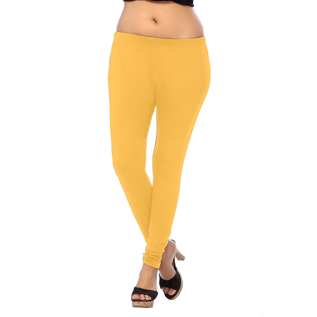 Saffron Mango ANMOL COTTON  Two-way Stretchable Leggings for Casualty Lovers