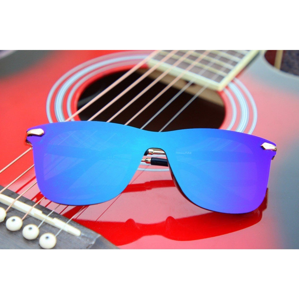 Sunglasses Aqua Blue Round Frame Goggles For Men