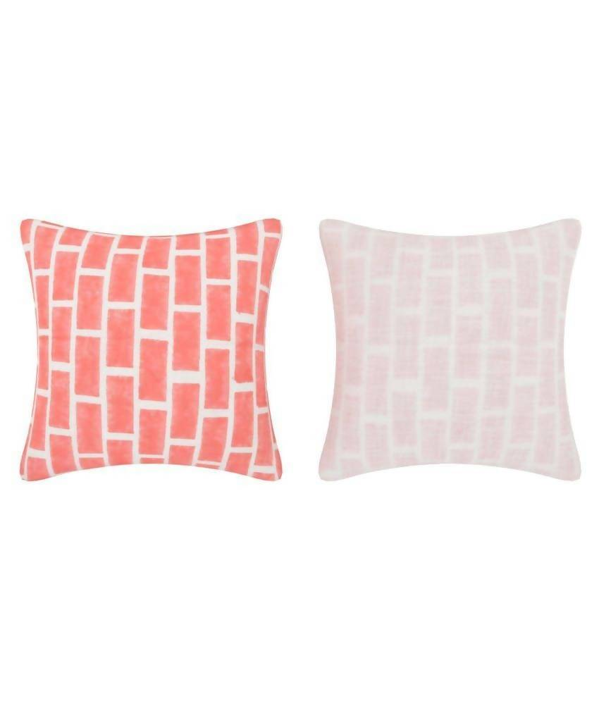 Myyra Peach Cotton Cushion Cover
