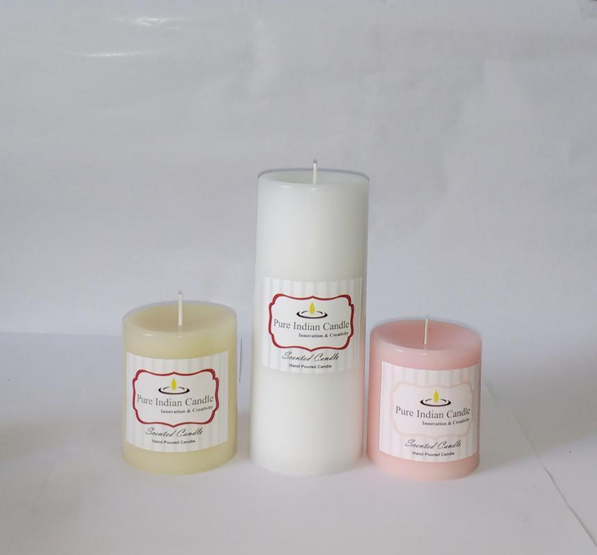 Handmade Triple Scented Pillar Candle PIC0317