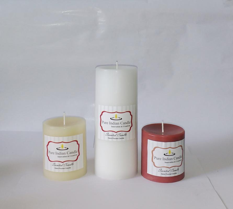 Handmade Triple Scented Pillar Candle PIC0318