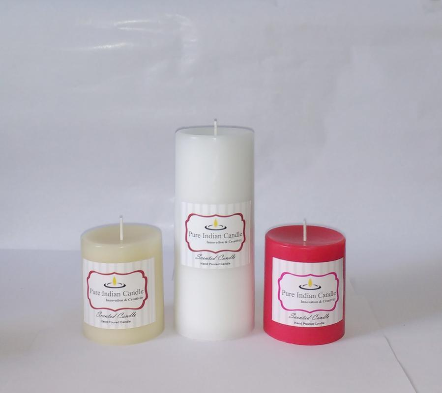 Handmade Triple Scented Pillar Candle PIC0319