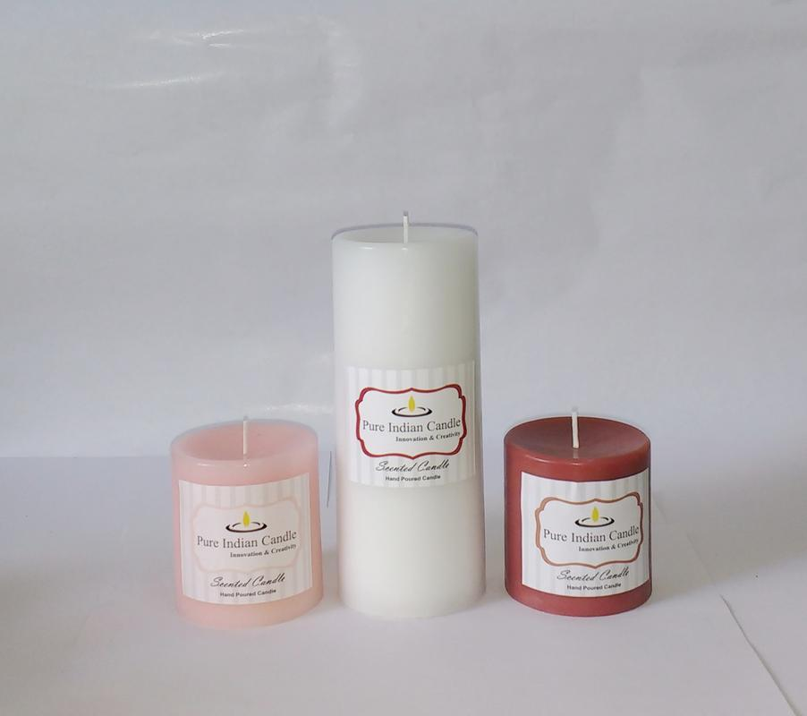 Handmade Triple Scented Pillar Candle PIC039