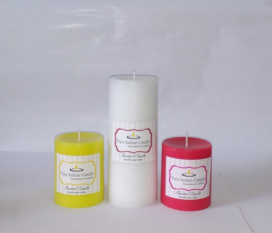 Handmade Triple Scented Pillar Candle PIC031