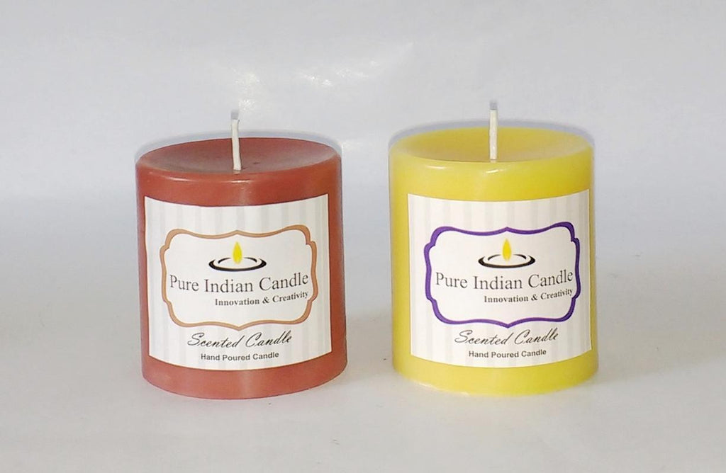 Handmade Dual Scented Pillar Candle PIC023