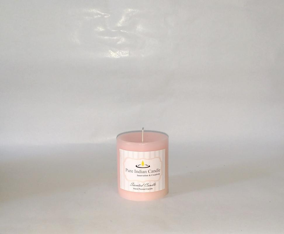 Water flower + Vanilla Handmade Scented Pillar Candle PIC008