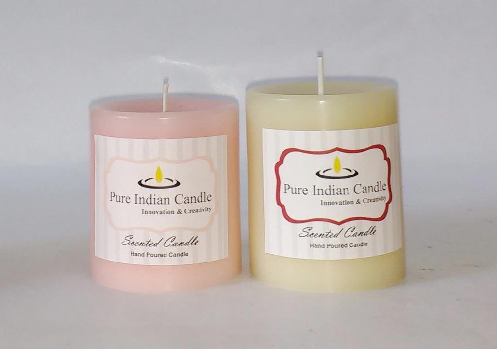 Handmade Dual Scented Pillar Candle PIC028