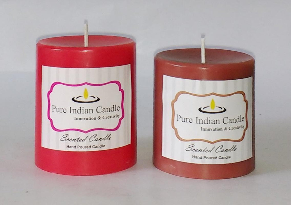 Handmade Dual Scented Pillar Candle PIC0210