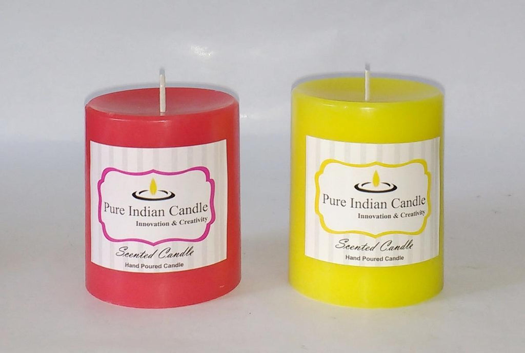 Handmade Dual Scented Pillar Candle PIC029