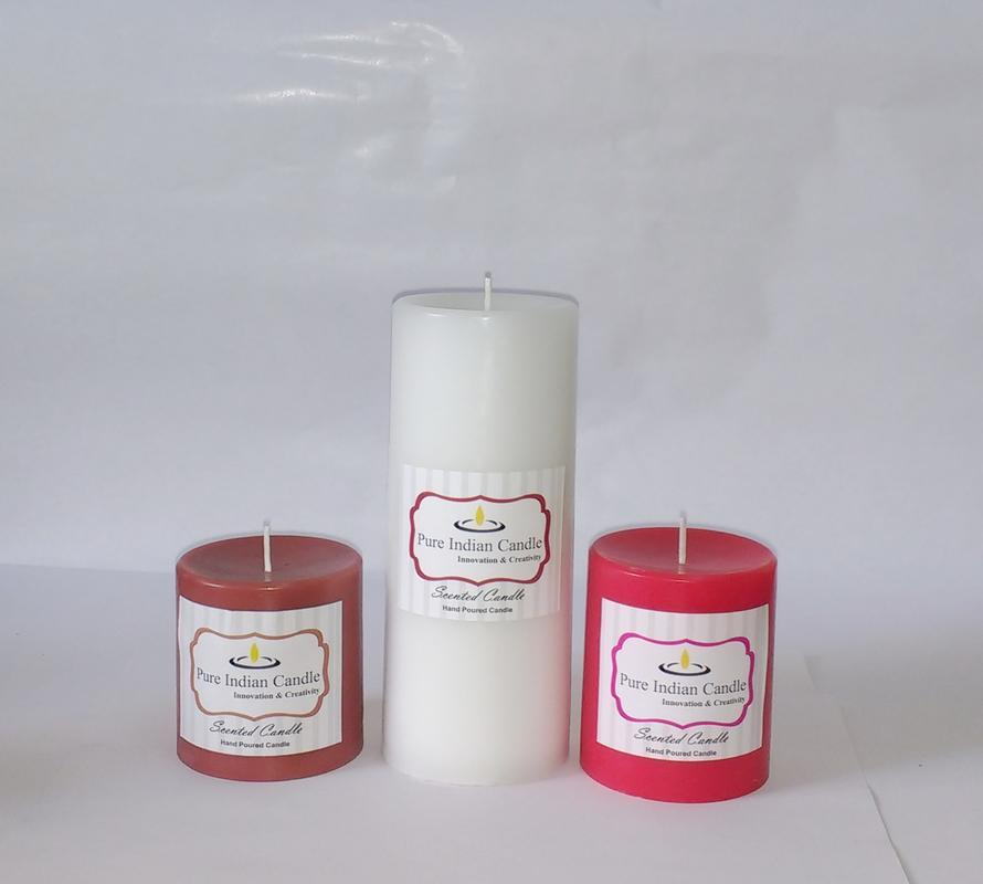 Handmade Triple Scented Pillar Candle PIC0311