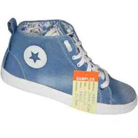 Sport Star Denim Shoes for Ladies