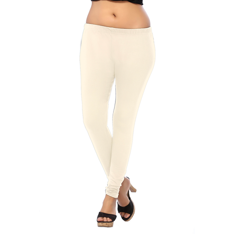 Decent Looking Linen ANMOL COTTON  Length Leggings for Formal Wear