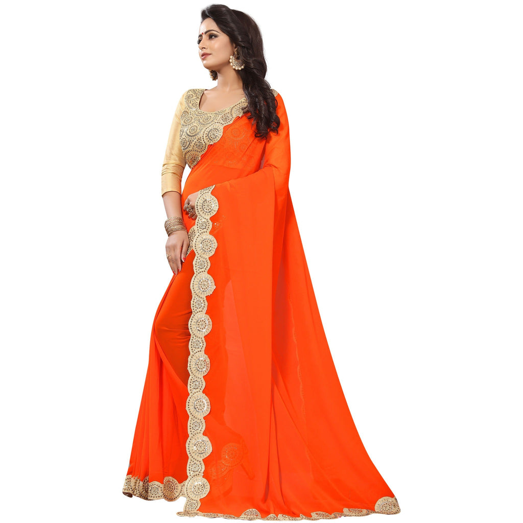 Mastani - Orange hit saree1