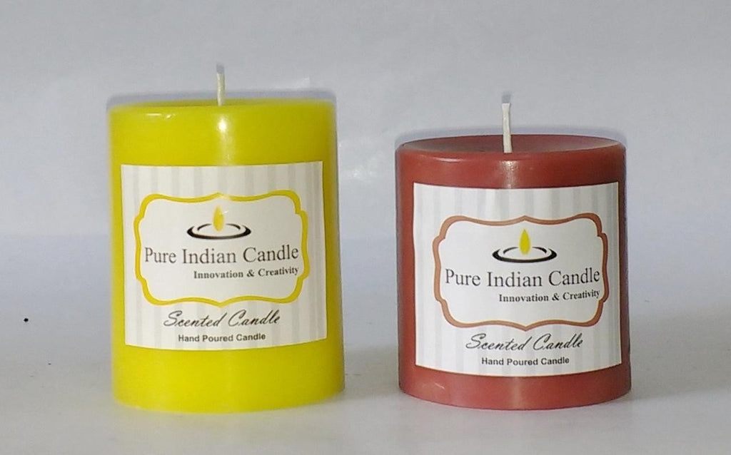Handmade Dual Scented Pillar Candle PIC0213