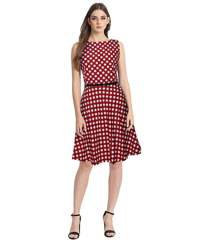 Harshita Creation Women's A-line Red Dress