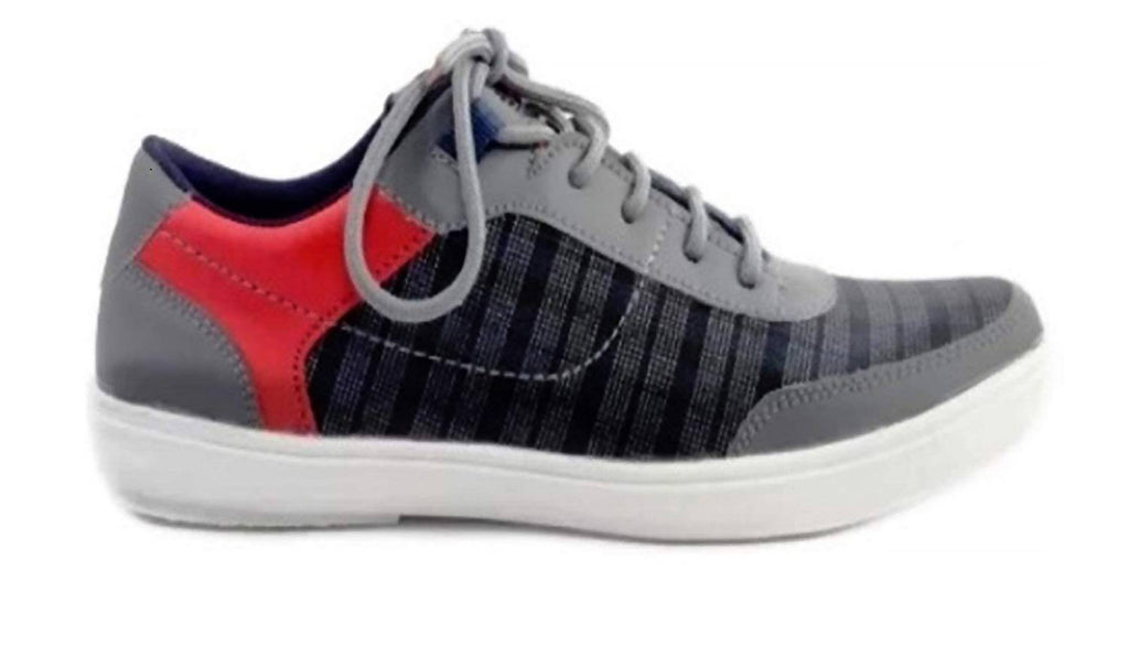 Xylus Grey_Red_M_Casual Shoes