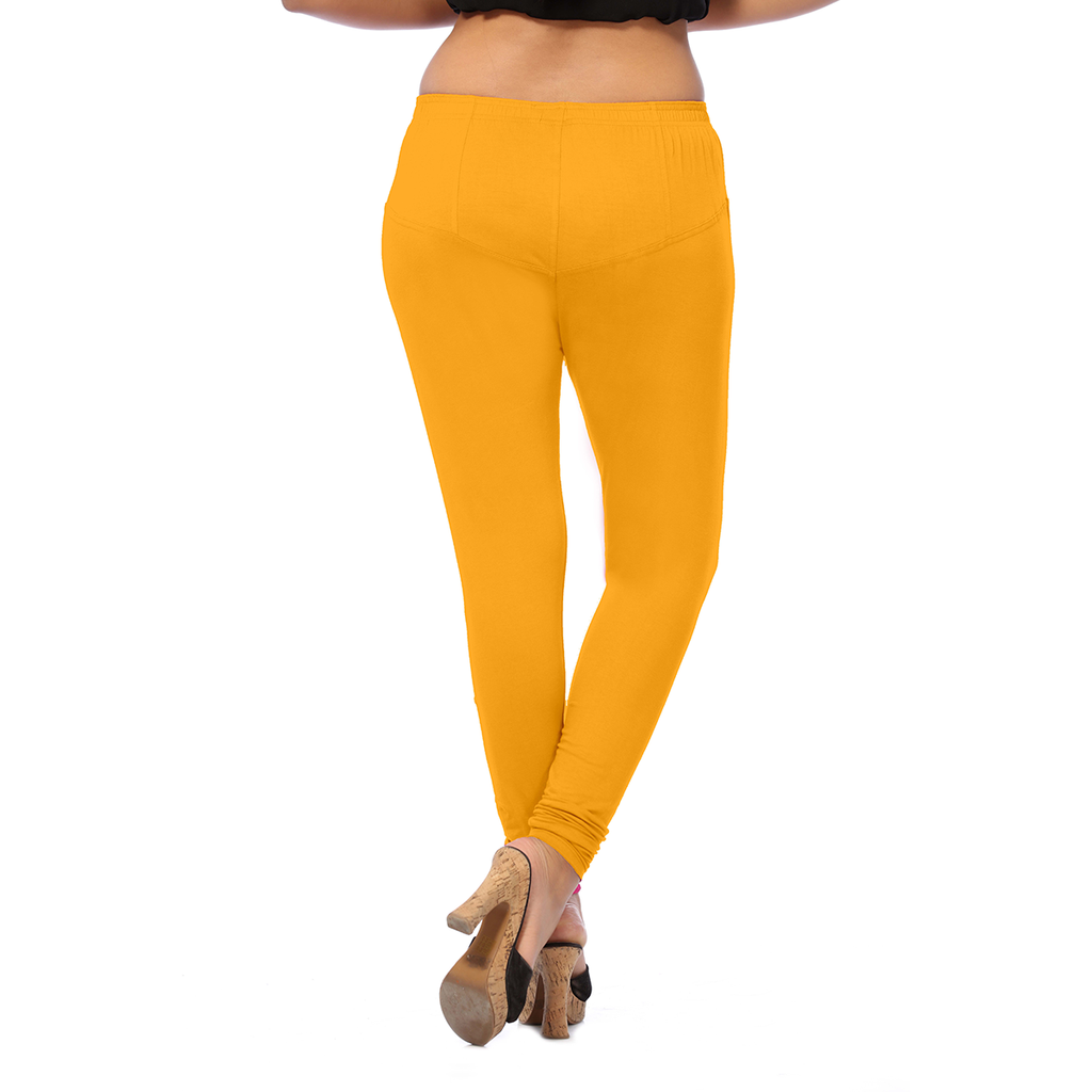 Gamboge Anmol Stretchable and Beauteous  Cotton Leggings for Casual Wear