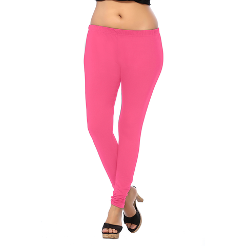 Brink Pink ANMOL COTTON  Pretty, Sober and Decent Colored Leggings for Comfort Lovers