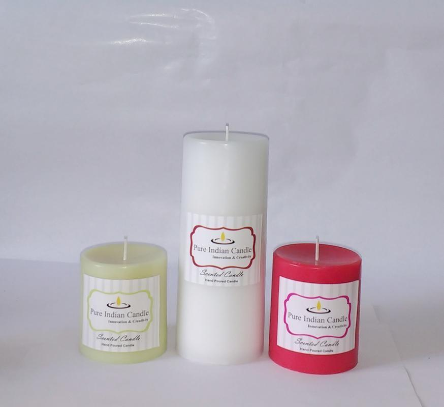 Handmade Triple Scented Pillar Candle PIC033