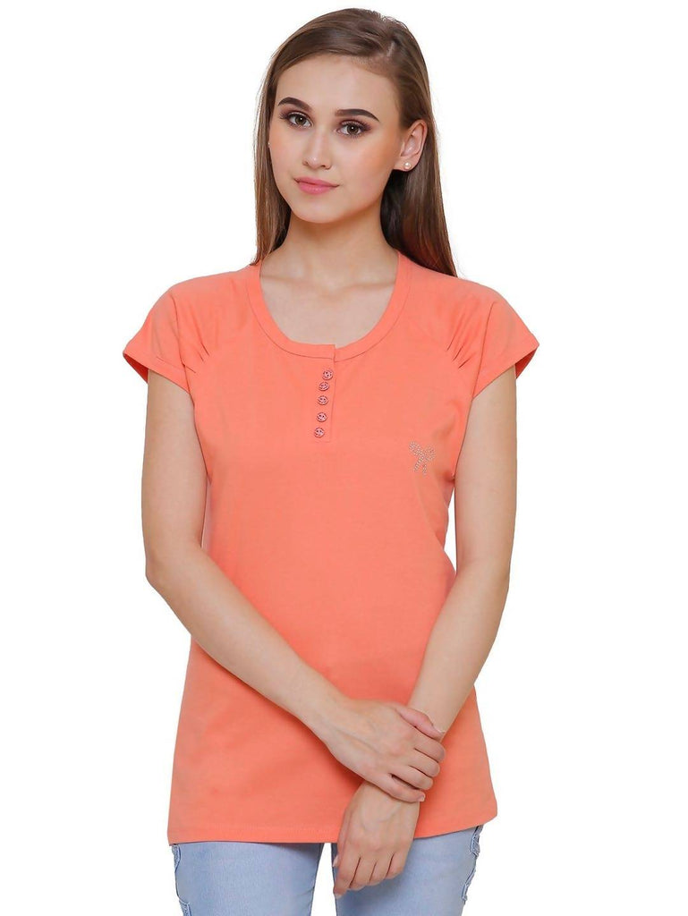 Casual Plain Women T-Shirt