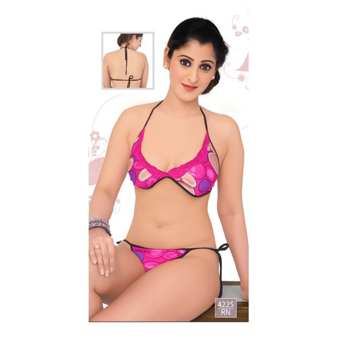 Elegant, Designer and Pretty Satin, moulded, semi-covered Bikini sets-4225-Rani