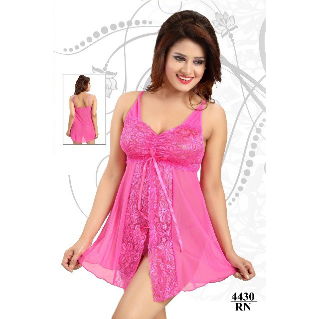 Hot, Magical and Beautiful Satin-soft-net Baby Doll Dress
