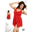 Hot, Red and Beautiful Satin Baby Doll Dress For Bridal Wear